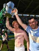 18 July 2021; Cian Lynch, left, and Aaron Gillane of Limerick celebrate after the Munster GAA Hurling Senior Championship Final match between Limerick and Tipperary at Páirc Uí Chaoimh in Cork. Photo by Ray McManus/Sportsfile