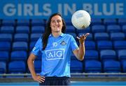 21 July 2021; Dublin Ladies Footballer Hannah Tyrell stands for a portrait at Parnell Park in Dublin as part of an AIG Dublin GAA event to celebrate the 2021 All-Ireland Championships. For great car and home insurance offers check out www.aig.ie. Photo by Sam Barnes/Sportsfile