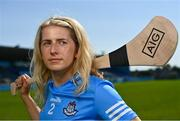 21 July 2021; Dublin Camogie Player Muireann Kelleher stands for a portrait at Parnell Park in Dublin as part of an AIG Dublin GAA event to celebrate the 2021 All-Ireland Championships. For great car and home insurance offers check out www.aig.ie. Photo by Sam Barnes/Sportsfile