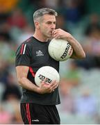 11 July 2021; Derry manager Rory Gallagher before the Ulster GAA Football Senior Championship Quarter-Final match between Derry and Donegal at Páirc MacCumhaill in Ballybofey, Donegal. Photo by Stephen McCarthy/Sportsfile