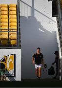 21 July 2021; Kilkenny captain Harry Shine leads his side out before the Electric Ireland Leinster GAA Minor Hurling Championship Semi-Final match between Kilkenny and Offaly at UPMC Nowlan Park in Kilkenny. Photo by Eóin Noonan/Sportsfile