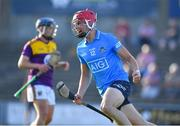 21 July 2021; Dennis McSweeney of Dublin celebrates after scoring his side's first goal during the Electric Ireland Leinster GAA Minor Hurling Championship Semi-Final match between Dublin and Wexford at Chadwicks Wexford Park in Wexford. Photo by Daire Brennan/Sportsfile
