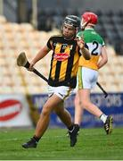 21 July 2021; Harry Shine of Kilkenny celebrates after scoring a goal for his side during the Electric Ireland Leinster GAA Minor Hurling Championship Semi-Final match between Kilkenny and Offaly at UPMC Nowlan Park in Kilkenny. Photo by Eóin Noonan/Sportsfile