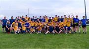 21 July 2021; Roscommon players and backroom staff celebrate after their side's victory the EirGrid Connacht GAA Football U20 Championship Final match between Mayo and Roscommon at Elverys MacHale Park in Castlebar, Mayo. Photo by Piaras Ó Mídheach/Sportsfile