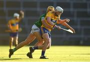 19 July 2021; Aidan Moriarty of Clare and Cathal O'Neill of Limerick during the Munster GAA Hurling U20 Championship semi-final match between Limerick and Clare at the LIT Gaelic Grounds in Limerick. Photo by Ben McShane/Sportsfile