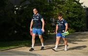 22 July 2021; Devin Toner, left, and Marcus Hanan as Leinster Rugby return to training at Leinster Rugby Headquarters in Dublin. Photo by Harry Murphy/Sportsfile