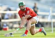 20 July 2021; Brian O'Sullivan of Cork takes a sideline cut during the Munster GAA Hurling U20 Championship semi-final match between Tipperary and Cork at Semple Stadium in Thurles, Tipperary. Photo by Ben McShane/Sportsfile