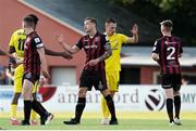 22 July 2021; Robert Cornwall of Bohemians, centre, after the UEFA Europa Conference League second qualifying round first leg match between F91 Dudelange and Bohemians at Stade Jos Nosbaum in Dudelange, Luxembourg. Photo by Gerry Schmit/Sportsfile