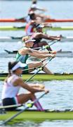 23 July 2021; Sanita Pušpure of Ireland in action during her heat of the Women's Single Sculls at the Sea Forest Waterway during the 2020 Tokyo Summer Olympic Games in Tokyo, Japan. Photo by Seb Daly/Sportsfile