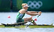 23 July 2021; Sanita Pušpure of Ireland during her heat of the women's single sculls at the Sea Forest Waterway during the 2020 Tokyo Summer Olympic Games in Tokyo, Japan. Photo by Stephen McCarthy/Sportsfile