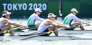 23 July 2021; Ronan Byrne, left, and Philip Doyle of Ireland in action in their heat of the men's double sculls at the Sea Forest Waterway during the 2020 Tokyo Summer Olympic Games in Tokyo, Japan. Photo by Stephen McCarthy/Sportsfile