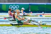 23 July 2021; Sanita Pušpure of Ireland during her heat of the women's single sculls at the Sea Forest Waterway during the 2020 Tokyo Summer Olympic Games in Tokyo, Japan. Photo by Baptiste Fernandez/Sportsfile