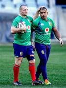23 July 2021; Ken Owens, left, and Kyle Sinckler during the British & Irish Lions Captain's Run at Cape Town Stadium in Cape Town, South Africa. Photo by Ashley Vlotman/Sportsfile