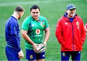 23 July 2021; Jamie George, centre and assistant coach Neil Jenkins during the British & Irish Lions Captain's Run at Cape Town Stadium in Cape Town, South Africa. Photo by Ashley Vlotman/Sportsfile