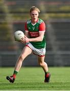 21 July 2021; Paddy Heneghan of Mayo during the EirGrid Connacht GAA Football U20 Championship Final match between Mayo and Roscommon at Elverys MacHale Park in Castlebar, Mayo. Photo by Piaras Ó Mídheach/Sportsfile