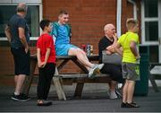 23 July 2021; Bohemians FC and former St Kevin's Boys player Ross Tierney watching the FAI Cup First Round match between St. Kevin's Boys and Kilnamanagh at St Aidan's CBS in Whitehall, Dublin. Photo by Eóin Noonan/Sportsfile