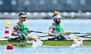 24 July 2021; Fintan McCarthy, left, and Paul O'Donovan of Ireland in action during the heats of the Lightweight Men's Double Sculls at the Sea Forest Waterway during the 2020 Tokyo Summer Olympic Games in Tokyo, Japan. Photo by Seb Daly/Sportsfile