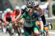 24 July 2021; Eddie Dunbar of Ireland in action during the men's cycling road race  from Musashinonomori Park to Fuji International Speedway during the 2020 Tokyo Summer Olympic Games in Tokyo, Japan. Photo by Alex Broadway/Sportsfile