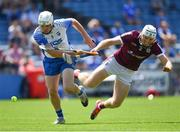 24 July 2021; Shane Cooney of Galway is tackled by Shane Bennett of Waterford during the GAA Hurling All-Ireland Senior Championship Round 2 match between Waterford and Galway at Semple Stadium in Thurles, Tipperary. Photo by Ray McManus/Sportsfile