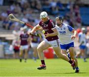 24 July 2021; Shane Cooney of Galway is tackled by Jamie Barron of Waterford during the GAA Hurling All-Ireland Senior Championship Round 2 match between Waterford and Galway at Semple Stadium in Thurles, Tipperary. Photo by Ray McManus/Sportsfile