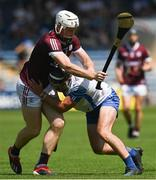 24 July 2021; Shane Cooney of Galway in action against Patrick Curran of Waterford during the GAA Hurling All-Ireland Senior Championship Round 2 match between Waterford and Galway at Semple Stadium in Thurles, Tipperary. Photo by Harry Murphy/Sportsfile