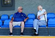 24 July 2021; Fairview Rangers treasurer Noel Whyte, left, in conversation with club member Mick O'Connell before the FAI Cup First Round match between Fairview Rangers and Finn Harps at Fairview Rangers AFC in Limerick. Photo by Michael P Ryan/Sportsfile
