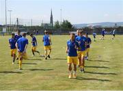 24 July 2021; Fairview Rangers players warm up before the FAI Cup First Round match between Fairview Rangers and Finn Harps at Fairview Rangers AFC in Limerick. Photo by Michael P Ryan/Sportsfile