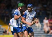 24 July 2021; Conor Prunty, right, and Michael Kiely of Waterford react at the full-time whistle after the GAA Hurling All-Ireland Senior Championship Round 2 match between Waterford and Galway at Semple Stadium in Thurles, Tipperary. Photo by Harry Murphy/Sportsfile