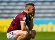 24 July 2021; Joe Canning of Galway reacts after his side's defeat in the GAA Hurling All-Ireland Senior Championship Round 2 match between Waterford and Galway at Semple Stadium in Thurles, Tipperary. Photo by Harry Murphy/Sportsfile