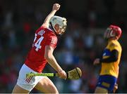 23 July 2021; Shane Barrett of Cork celebrates after scoring his side's third goal during the GAA Hurling All-Ireland Senior Championship Round 2 match between Clare and Cork at LIT Gaelic Grounds in Limerick. Photo by Eóin Noonan/Sportsfile
