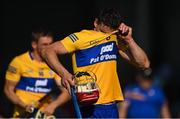 23 July 2021; John Conlon of Clare leaves the pitch after his side's defeat in the GAA Hurling All-Ireland Senior Championship Round 2 match between Clare and Cork at LIT Gaelic Grounds in Limerick. Photo by Piaras Ó Mídheach/Sportsfile