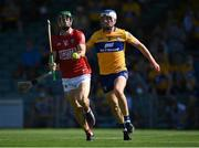 23 July 2021; Séamus Harnedy of Cork in action against Diarmuid Ryan of Clare during the GAA Hurling All-Ireland Senior Championship Round 2 match between Clare and Cork at LIT Gaelic Grounds in Limerick. Photo by Piaras Ó Mídheach/Sportsfile