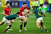 24 July 2021; Jack Conan of British and Irish Lions is tackled by Damian de Allende, left, and Cheslin Kolbe of South Africa during the first test of the British and Irish Lions tour match between South Africa and British and Irish Lions at Cape Town Stadium in Cape Town, South Africa. Photo by Ashley Vlotman/Sportsfile