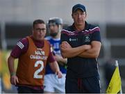 24 July 2021; Westmeath manager Shane O'Brien during the Allianz Hurling League Division 1 Relegation Play-off match between Laois and Westmeath at MW Hire O'Moore Park in Portlaoise, Co Laois. Photo by Harry Murphy/Sportsfile