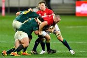 24 July 2021; Ken Owens of the British and Irish Lions is tackled during the first test of the British and Irish Lions tour match between South Africa and British and Irish Lions at Cape Town Stadium in Cape Town, South Africa. Photo by Ashley Vlotman/Sportsfile