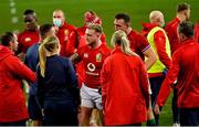 24 July 2021; British and Irish Lions players are congratulated by members of the background staff after the first test of the British and Irish Lions tour match between South Africa and British and Irish Lions at Cape Town Stadium in Cape Town, South Africa. Photo by Ashley Vlotman/Sportsfile