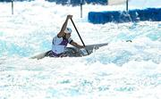 25 July 2021; Liam Jegou of Ireland in action during the Men's C1 Canoe Slalom heats at the Kasai Canoe Slalom Centre during the 2020 Tokyo Summer Olympic Games in Tokyo, Japan. Photo by Ramsey Cardy/Sportsfile
