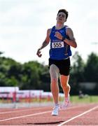 25 July 2021; Cian McPhillips of Longford AC, on his way to winning the Men's 1500m during the Athletics Ireland Summer Games at Carlow IT in Carlow. Photo by Sam Barnes/Sportsfile