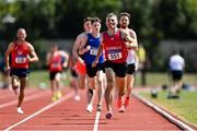 25 July 2021; Martin Cunningham of Tír Chonaill AC, Donegal, on his way to winning the Men's 800m Heat 2 during the Athletics Ireland Summer Games at Carlow IT in Carlow. Photo by Sam Barnes/Sportsfile