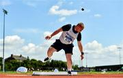 25 July 2021; Michael Sheerin of Brow Rangers AC, Kilkenny, competing in the Men's Shot Put during the Athletics Ireland Summer Games at Carlow IT in Carlow. Photo by Sam Barnes/Sportsfile
