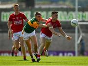 25 July 2021; Kevin Flahive of Cork in action against Seán O'Shea of Kerry during the Munster GAA Football Senior Championship Final match between Kerry and Cork at Fitzgerald Stadium in Killarney, Kerry. Photo by Eóin Noonan/Sportsfile
