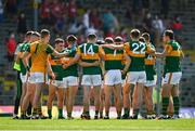 25 July 2021; Kerry players huddle before the Munster GAA Football Senior Championship Final match between Kerry and Cork at Fitzgerald Stadium in Killarney, Kerry. Photo by Eóin Noonan/Sportsfile