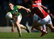 25 July 2021; Stephen O'Brien of Kerry in action against Sean Powter of Cork during the Munster GAA Football Senior Championship Final match between Kerry and Cork at Fitzgerald Stadium in Killarney, Kerry. Photo by Piaras Ó Mídheach/Sportsfile