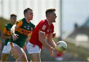 25 July 2021; Kevin Flahive of Cork in action against Tom O'Sullivan of Kerry during the Munster GAA Football Senior Championship Final match between Kerry and Cork at Fitzgerald Stadium in Killarney, Kerry. Photo by Eóin Noonan/Sportsfile