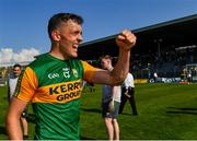 25 July 2021; David Clifford of Kerry celebrates after after his side's victory in the Munster GAA Football Senior Championship Final match between Kerry and Cork at Fitzgerald Stadium in Killarney, Kerry. Photo by Piaras Ó Mídheach/Sportsfile