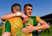 25 July 2021; Kerry players David Clifford, right, and Shane Ryan celebrate after their side's victory in the Munster GAA Football Senior Championship Final match between Kerry and Cork at Fitzgerald Stadium in Killarney, Kerry. Photo by Piaras Ó Mídheach/Sportsfile