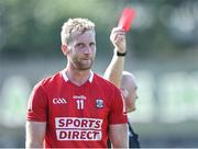 25 July 2021; Ruairí Deane of Cork is shown the red card by referee Barry Cassidy during the Munster GAA Football Senior Championship Final match between Kerry and Cork at Fitzgerald Stadium in Killarney, Kerry. Photo by Piaras Ó Mídheach/Sportsfile