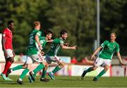 25 July 2021; Dale Holland of Cork City celebrates with team-mates after scoring his side's third goal during the FAI Cup First Round match between Sligo Rovers and Cork City at The Showgrounds in Sligo. Photo by Michael P Ryan/Sportsfile