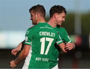 25 July 2021; Darragh Crowley and Cian Murphy of Cork City after the FAI Cup First Round match between Sligo Rovers and Cork City at The Showgrounds in Sligo. Photo by Michael P Ryan/Sportsfile