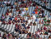 25 July 2021; Supporters of both Mayo and Galway watch the game from the Cusack Stand during the Connacht GAA Senior Football Championship Final match between Galway and Mayo at Croke Park in Dublin. Photo by Ray McManus/Sportsfile